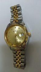 ギャグ腕時計 RORAX ロラックス デイトジャスト(ゴールド)
