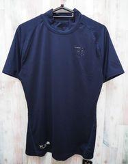アンダーアーマー 野球 アンダーシャツ 半袖モックシャツ 紺 XXL