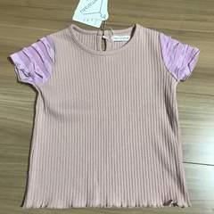 新品タグ付き110〜120半袖Tシャツ ピンクフリル付き.12
