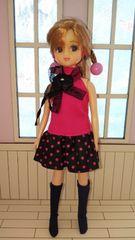 クルキュートリカちゃん人形ドール本体髪の乱れ有りヘアアレンジ