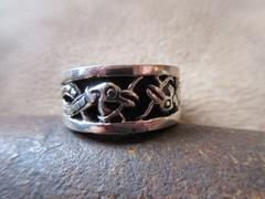 Silver925 Ring  純銀指輪  18号 14.2g   n236