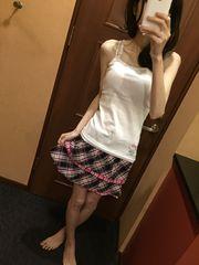 ミニ丈のスカート・チェック・ピンク