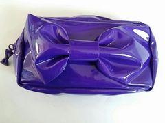 新品★非売品 SLY スライ おっきなリボンが可愛い ポーチ 紫色
