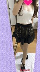 CHUXXX★ヒョウ柄レース付きスカート