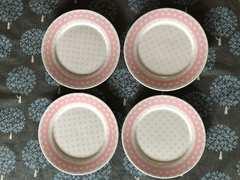ケーキ皿 水玉レース ピンク メルヘン パーティ