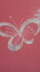 花簪半衿エレガントな蝶々/オールドローズ