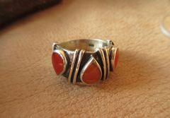 Silver925 Ring 純銀・指輪 カーネリアン 16号  n314