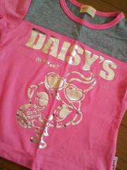 新品同様デイジーラバーズシルバープリ半袖Tシャツ90