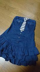 ワンスポ☆ネクタイ付き裾三段フリルベア/M