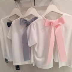 one spo★リボンTシャツ レーストップスセット