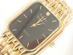 9425/RomaniValention新品未使用★フルゴールドモデルメンズ腕時計