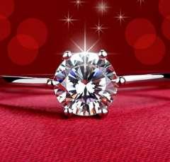 特A品 新品 1円〜★送料無料★ 15号 輝くプラチナAAAジルコニアダイヤ指輪