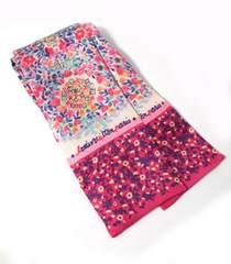 正規新品同様ルイヴィトンスカーフバンドー花柄ピンクモノグラムカターニアM72583LV