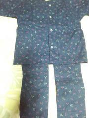 ☆新品紺×トンボ和柄ダボシャツ&股引(パッチ)100