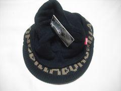 mb40 男 BILLABONG ビラボン 黒 つば付き ニット帽
