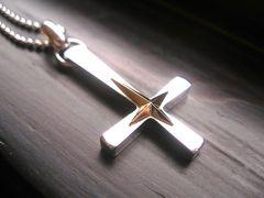 仁尾彫金『逆十字星クロスコンビ』十字架ハンドメイド158
