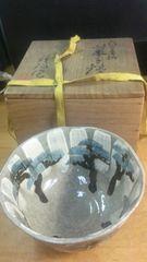 平安、祥瑞作。乾山雪老松、菓子鉢。なんて素敵。共箱。