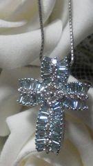 レア☆レア/1ctの煌めき上質ブルーダイヤ&ダイヤ大きめ45cm☆