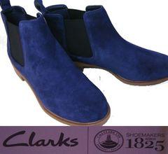 クラークス 新品サイドゴア ショートブーツ26112860uk3.5
