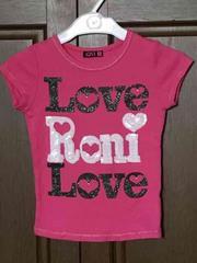 美品 RONI スパンコールロゴTシャツ S