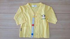 美品 シシュノン カーディガン サイズ95 黄色 くま刺繍