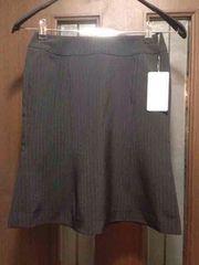 新品S★マーメイドスカート★黒にストライプ/小さいサイズ