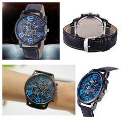 腕時計 オシャレ 数字 レザー 時計 革ベルト ウォッチ 黒