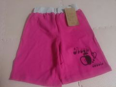 新品 120 ピンクの短パンツ