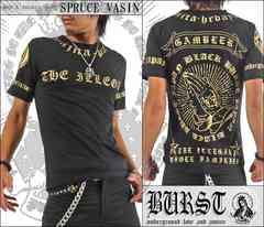 メール便送料無料【MAD BURST JAPAN】70537Tシャツ黒金L