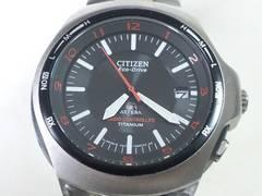3347/シチズン☆エコドライブATTESAアテッサシリーズ軽量フルチタンメンズ腕時計