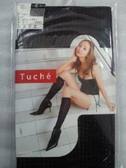 レディース 神田うの Tuche 靴下 ソックス ひざ下丈 ラメ ベルト ピンク ブラック