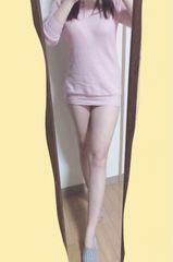 フィット感がセクシー♪ピンクのセーターワンピース(〃ω〃)