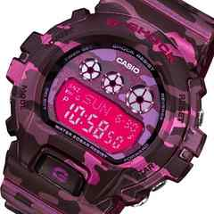 カシオ CASIO G-SHOCK ユニセックス ピンクパープルカモ 腕時計