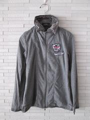 即決/NAVANA/重ね着風カットソーシャツジャケット/グレー/M