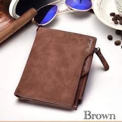 財布 二つ折り財布 ヴィンテージ レザー 小銭入れ ブラウン