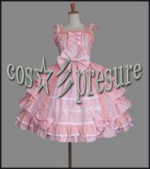 ゴスロリ ピンク フリルワンピ風☆彡コスプレ衣装