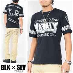 メール便送料無料【MAD BURST JAPAN】70739Tシャツ黒銀L