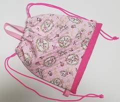 N34 ミニーマウス なっぷさっく(*^O^*)着替え袋