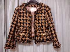 グレースクラス(グレースコンチネンタル)◆千鳥ツイードジャケット定価49350円◆サイズM