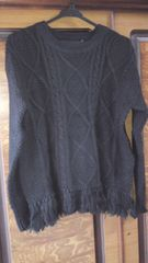 ローリーズファーム     フリンジ付きニットセーター