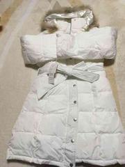ホワイト中綿コート11号