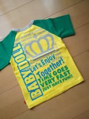 新品レッツエンジョイTシャツ黄110ベビドBABYDOLLベビードール