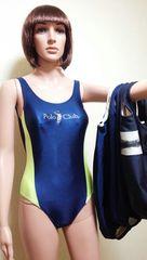 光沢ネイビーのクラブ競泳系水着4枚セット 1339☆3点で即落