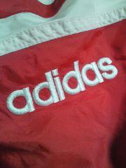 adidas アディダス レトロ ジャンパー ブルゾン 上着 レッド ブラック Lサイス 薄手