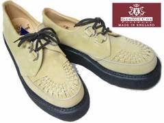 ジョージコックス新品ラバーソール3588サンド スエード厚底靴8
