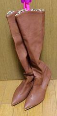 �B韓国茶色ブーツ  23.5