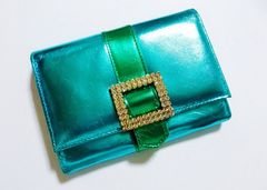 美品アッシュ&ダイアモンド二つ折り財布