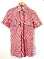 Mr.Leggs■ウエスタンシャツ■70'sVINTAGE■USA製■赤白