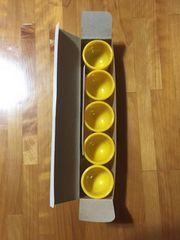 302.新品☆小さいコップ黄色5個