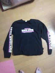 美品ビーチサウンドバナナセブン長袖Tシャツ黒ロンTブラックpinkピンクロングTシャツ・送0